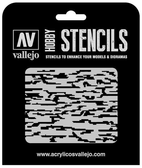 Vallejo Hobby Stencils: Pixelated Modern Camo Markings