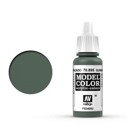 Vallejo Model Color: 088 Panzergrün (Gunship Green), 17 ml (895)