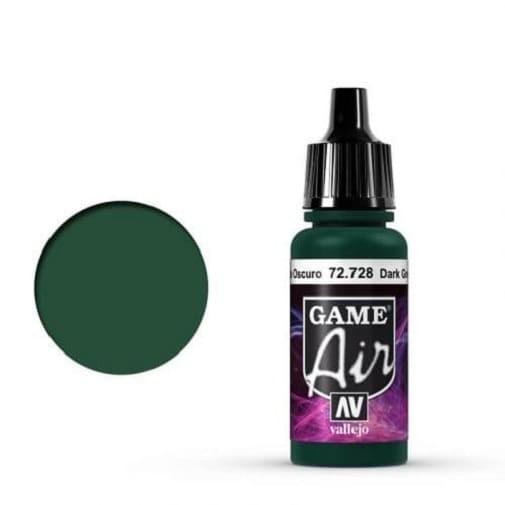 Vallejo Game Air 728 Dark Green, 17 ml