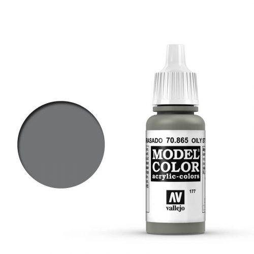 Vallejo Model Color: 177 Geölter Stahl (Oily Steel), 17 ml (865)