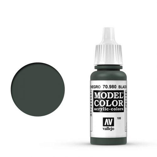 Vallejo Model Color: 100 Tannengrün Dunkel (Black Green), 17 ml (980)