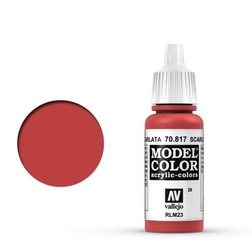 Vallejo Model Color: 026 Scharlach (Scarlet), 17 ml (817)