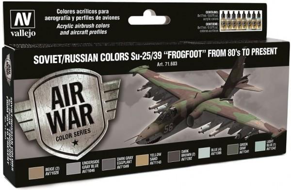 "Model Air: Model Air Set Soviet / Russian colors Su-25/39 ""Frogfoot (8)"