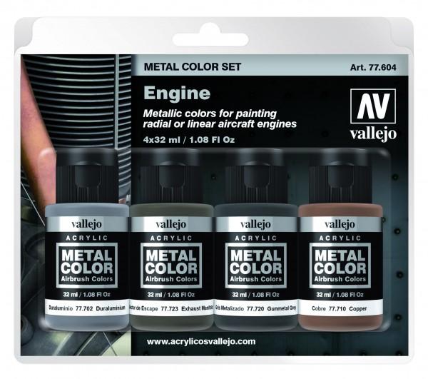 Vallejo Metal Color Engine Set (4)