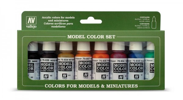 Vallejo Model Color: Set: Transparent Colors (8 Farben)