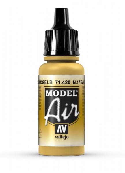 "Vallejo Model Air: 71420 ""No 17 Earth Yellow"" 17ml"