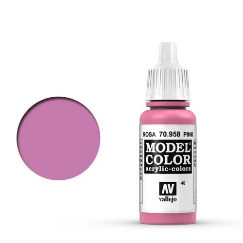 Vallejo Model Color: 040 Rosa (Pink), 17 ml (958)