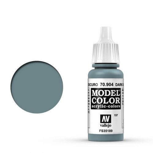 Vallejo Model Color: 157 Blaugrau Dunkel (Dark Blue Grey), 17 ml (904)