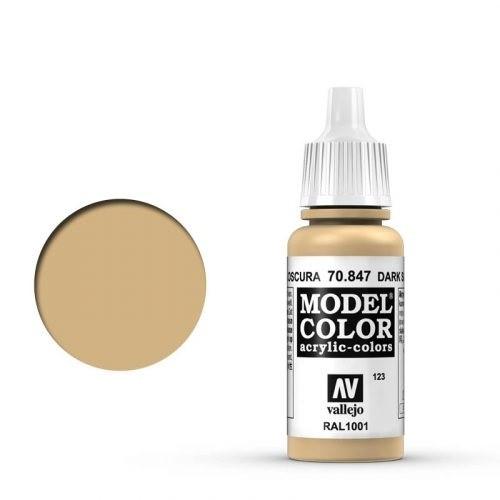 Vallejo Model Color: 123 Dunkler Sand (Dark Sand), 17 ml (847)