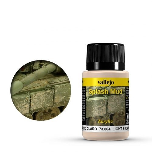 Vallejo Weathering Effects Splash Mud Light Brown 40 ml