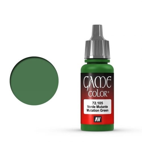 Vallejo Game Color: 105 Mutation Green, 17 ml