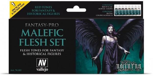 Vallejo Model Color: Model Color Set Fantasy-Pro Malefic Flesh (8)
