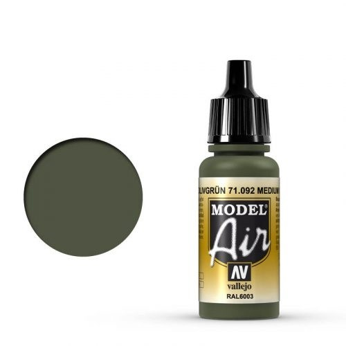 Vallejo Model Air: 092 Medium Green, 17 ml