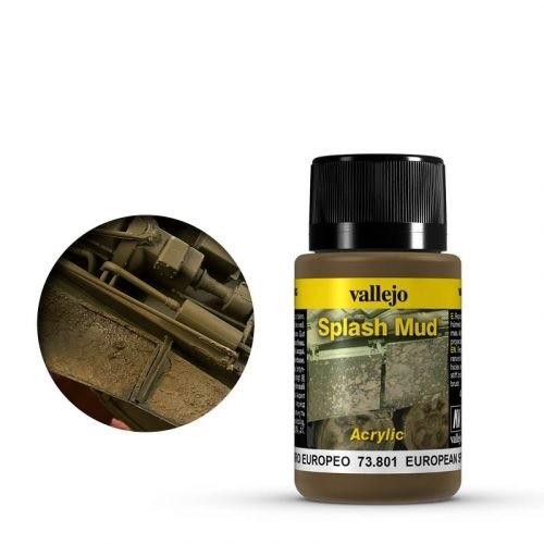 Vallejo Weathering Effects Splash Mud European 40 ml