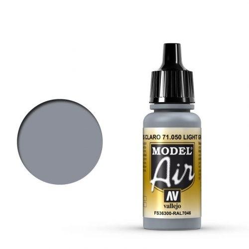 Vallejo Model Air: 050 Light Grey, 17 ml
