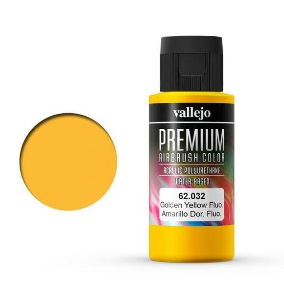 Vallejo Premium: Golden Yellow Fluo (Polyu.) (60ml)