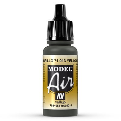 Vallejo Model Air: 013 Yellow Olive, 17 ml