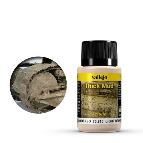 Vallejo Weathering Effects Thick Mud Light Brown 40 ml
