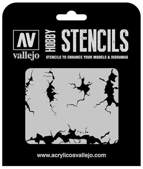 Vallejo Hobby Stencils: Cracked Wall