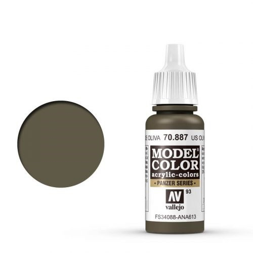 Vallejo Model Color: 091 Olivbraun (USA Olive Brown), 17 ml (889)