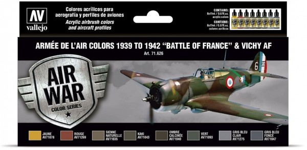 """Model Air: Armée de l'Air colors 1939 to 1942 """"Battle of France"""""""