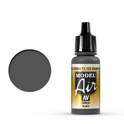 Vallejo Model Air: 71123 Dark Grey RLM42, 17 ml