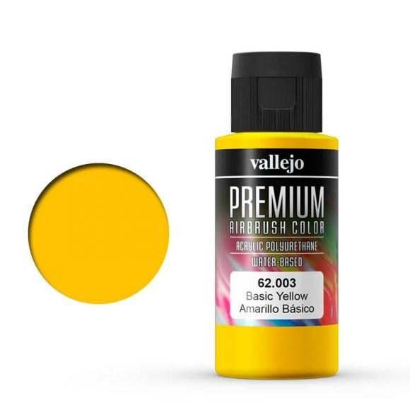 Vallejo Premium: Basic Yellow (Polyu.) (60ml)