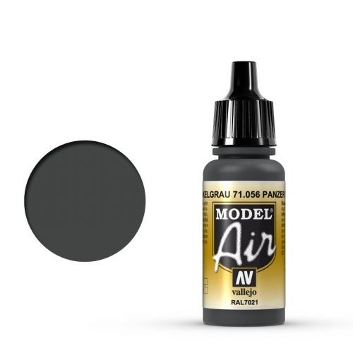 Vallejo Model Air: 056 Panzer Dark Grey, 17 ml
