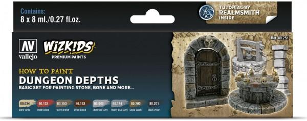 Vallejo Wizkids Premium: Dungeon Dephts (8ml) (8)