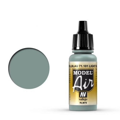 Vallejo Model Air: 71101 Hellblau/Light Sky Blue, (RLM 78) 17 ml