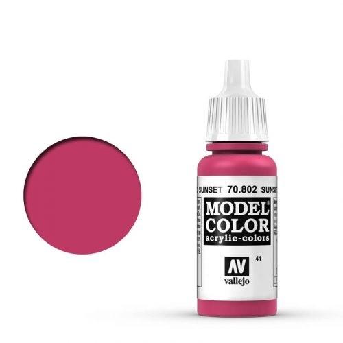 Vallejo Model Color: 041 Sunset Rot (Sunset Red), 17 ml (802)