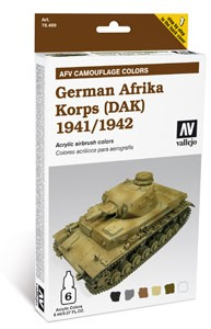 Model Air: Model Air Set AFV German Afrika Korps 1941/42 (DAK) Set (6)