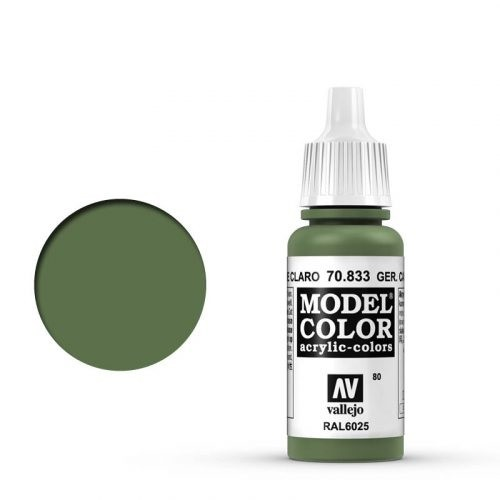 Vallejo Model Color: 080 Hellgrüne Tarnung (German Camo Bright Green), 17 ml (833