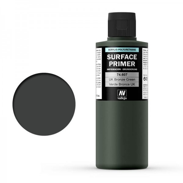 Vallejo Surface Primer UK Bronze Green (200ml)