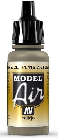 "Vallejo Model Air: 71415 ""A-21 Light Greyish Brown"" 17ml"