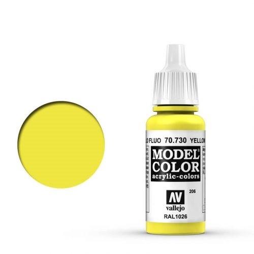 Vallejo Model Color: 206 Leuchtgelb (Yellow Fluo), 17 ml (730)