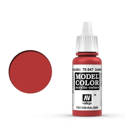 Vallejo Model Color: 029 Orientrot (Red), 17 ml (947)