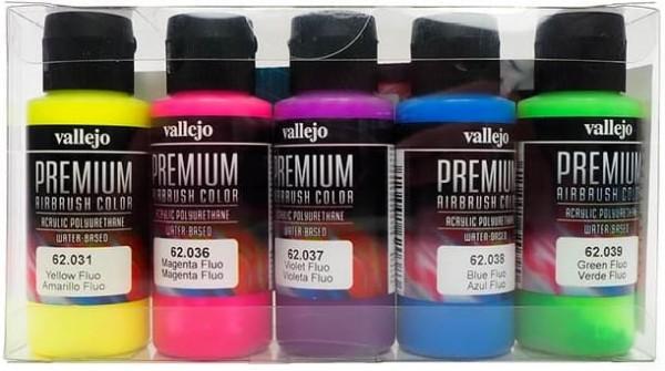 Vallejo Premium: Fluo Colors (Polyu.) (60ml) (5)