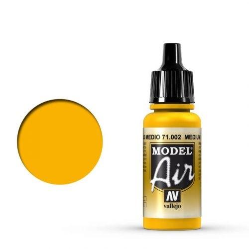 Vallejo Model Air: 002 Yellow, 17 ml