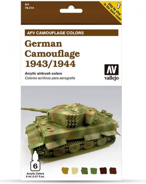 Model Air: Model Air Set AFV German Camouflage 1943/44 Set (6)