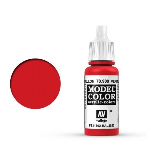 Vallejo Model Color: 028 Verkehrsrot (Vermillion), 17 ml (909)