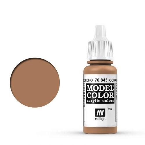 Vallejo Model Color: 133 Sandgelb (Cork Brown), 17 ml (843)