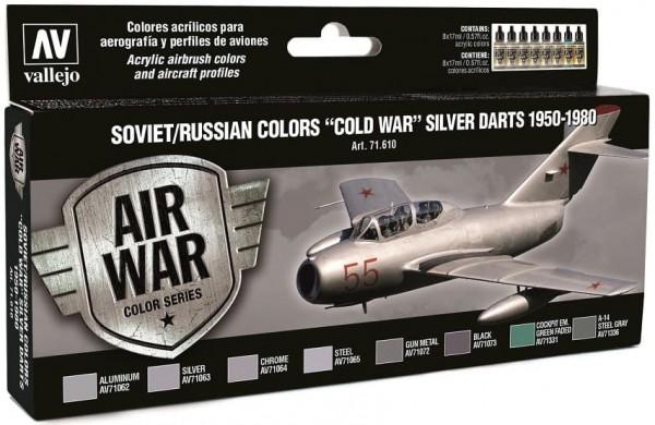 "Model Air: Model Air Set Soviet / Russian colors ""Cold War"" Silver (8)"
