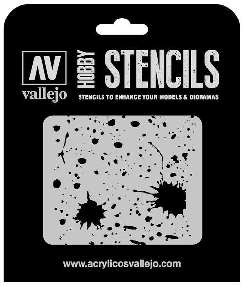 Vallejo Hobby Stencils: Splash & Stains