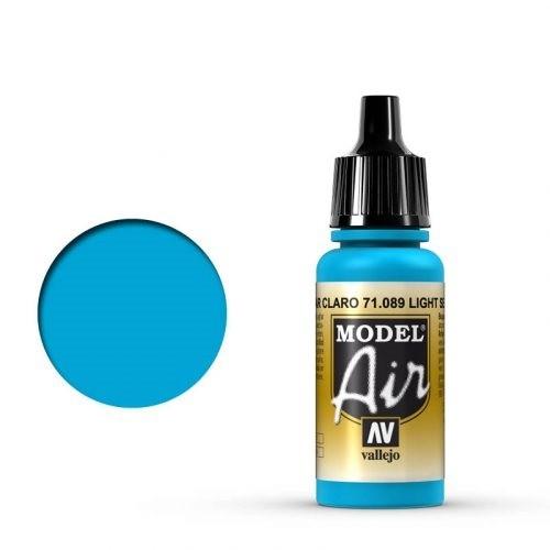 Vallejo Model Air: 089 Light Sea Blue, 17 ml