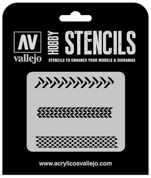Vallejo Hobby Stencils: Tyre Markings