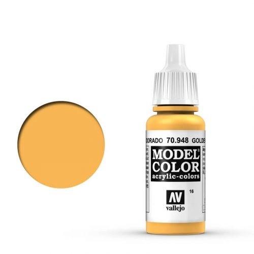 Vallejo Model Color: 016 Safrangelb (Golden Yellow), 17 ml (948)