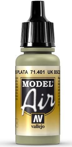 """Vallejo Model Air: 71401 """"UK BSC 28 Silver Grey"""" 17ml"""