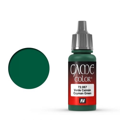 Vallejo Game Color: 067 Cayman Green, 17 ml