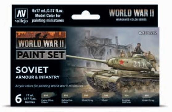 Vallejo Model Color: Model Color: WWII Paint Set Soviet Armour & Infantry